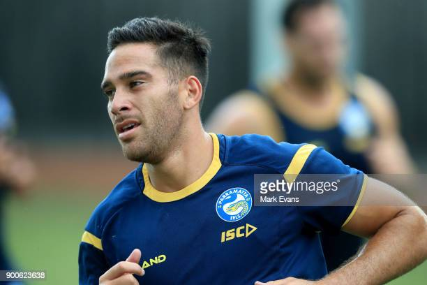 Corey Norman during a Parramatta Eels NRL preseason training session at Old Saleyards Reserve on January 3 2018 in Sydney Australia
