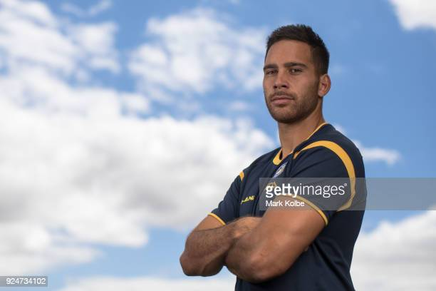 Corey Norman poses during the Parramatta Eels NRL media day at the Old Saleyards Reserve on February 27 2018 in Sydney Australia