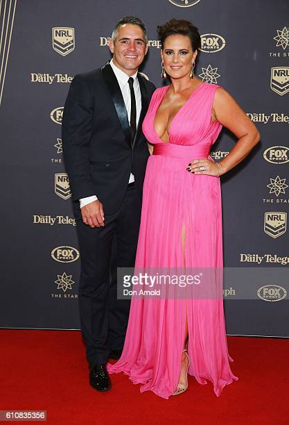 Corey Parker and Margaux Parker arrives at the 2016 Dally M Awards at Star City on September 28 2016 in Sydney Australia