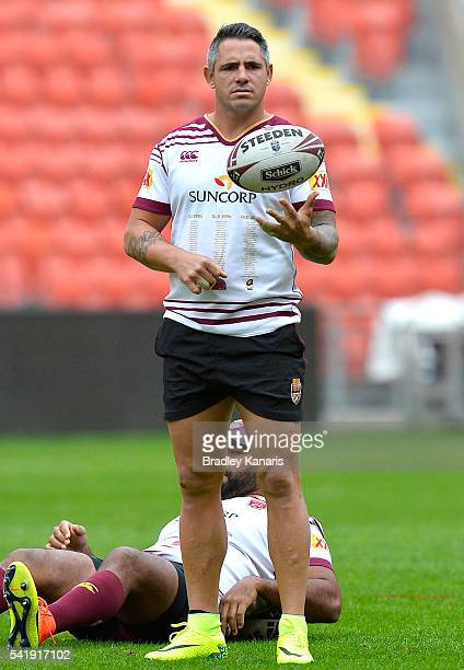 Corey Parker during a Queensland Maroons State of Origin training session at Suncorp Stadium on June 21 2016 in Brisbane Australia