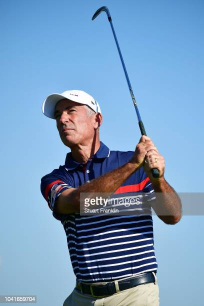 Corey Pavin during the Past Captain's match prior to the 2018 Ryder Cup at Le Golf National on September 27 2018 in Paris France