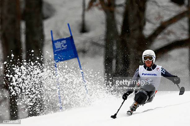 Corey Peters of New Zealand competes in the Men's Super G sitting during day two of Sochi 2014 Paralympic Winter Games at Rosa Khutor Alpine Center...