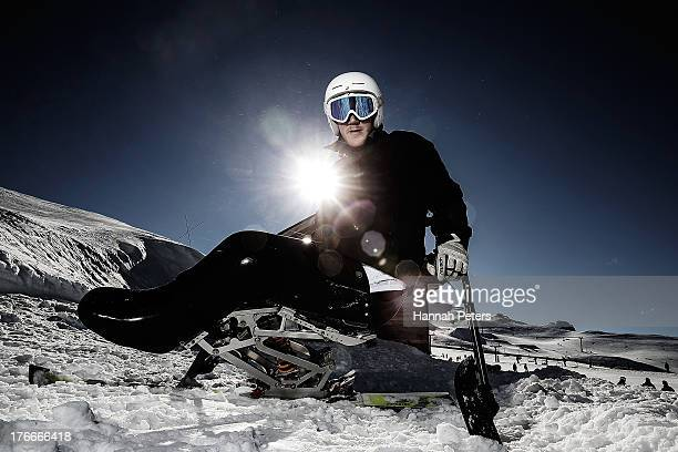 Corey Peters of New Zealand poses during a New Zealand Winter Paralympic team portrait session on July 25 2013 in Wanaka New Zealand