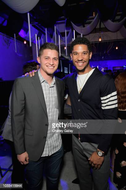Corey Seager and Josh Hart attend the Audi preEmmy celebration at the La Peer Hotel in West Hollywood on Friday September 14 2018