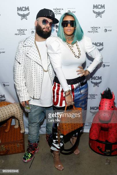 Corey Shapiro and Talia Coles attend the 2018 Tribeca Studios and MCM Sneak Preview Of Women's Hip Hop At Public Hotel on April 24 2018 in New York...