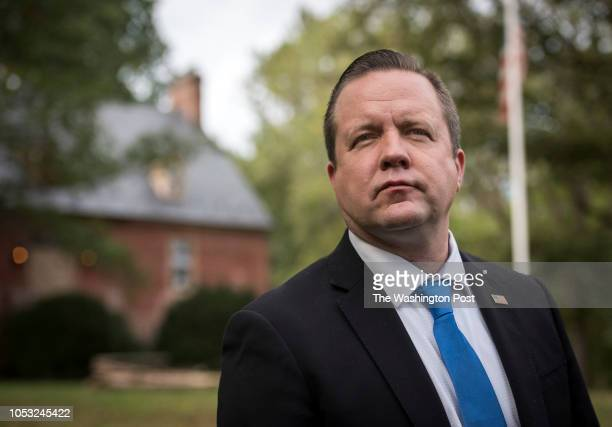 Corey Stewart, candidate for the U.S. Senate, at his historic home, on October 2018 in Woodbridge, VA.