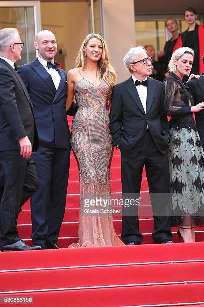 "Corey Stoll, actress Blake Lively, director Woody Allen, actress Kristen Stewart attend the ""Cafe Society"" premiere and the Opening Night Gala during..."