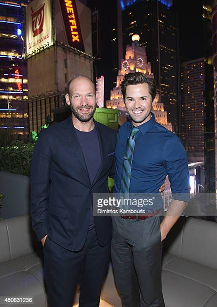 Corey Stoll and Andrew Rannells attend the after party for Marvel's screening of AntMan hosted by The Cinema Society and Audi at St Cloud at the...