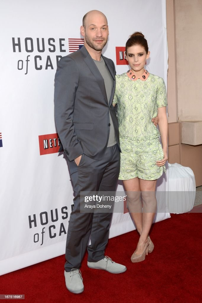 Corey Stoll and Kate Mara arrive at the Netflix's 'House Of Cards' for your consideration Q&A event at Leonard H. Goldenson Theatre on April 25, 2013 in North Hollywood, California.