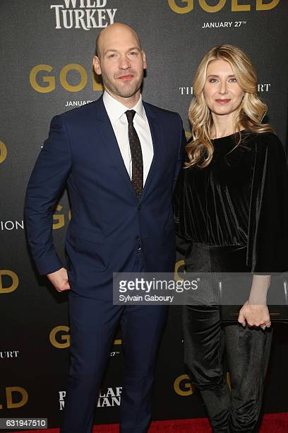 Corey Stoll and Nadia Bowers attend TWCDimension with Popular Mechanics The Palm Court Wild Turkey Bourbon Host the Premiere of Gold at AMC Loews...