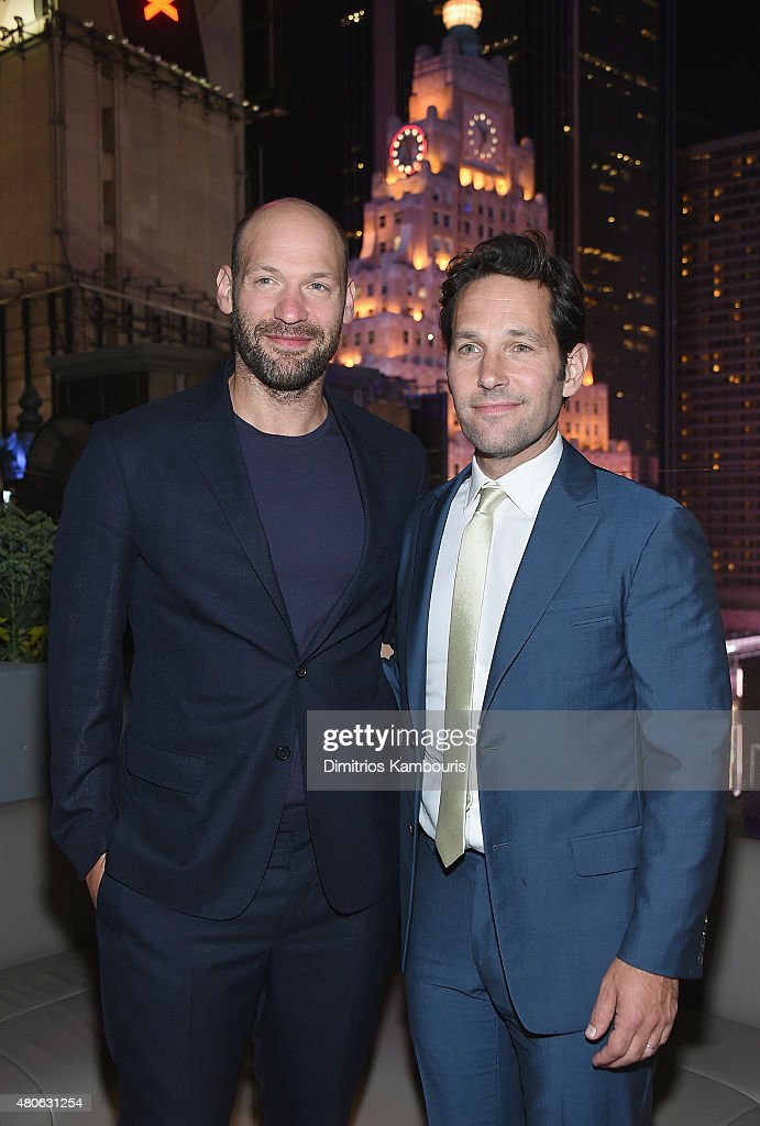 Corey Stoll and Paul Rudd attend the after party for Marvel's screening of 'Ant-Man' hosted by The Cinema Society and Audi at St. Cloud at the Knickerbocker Hotel on July 13, 2015 in New York City.