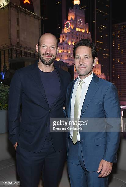 """Corey Stoll and Paul Rudd attend the after party for Marvel's screening of """"Ant-Man"""" hosted by The Cinema Society and Audi at St. Cloud at the..."""