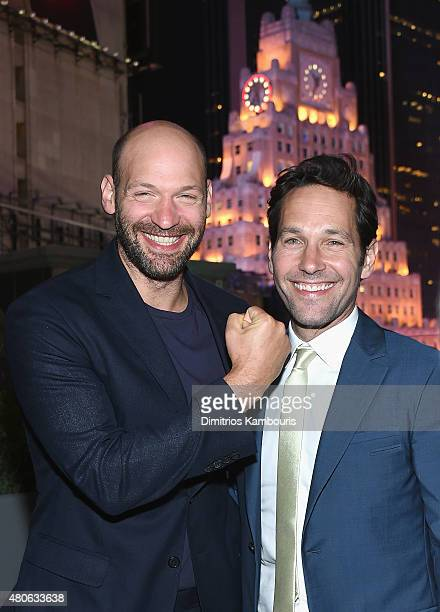 Corey Stoll and Paul Rudd attend the after party for Marvel's screening of AntMan hosted by The Cinema Society and Audi at St Cloud at the...