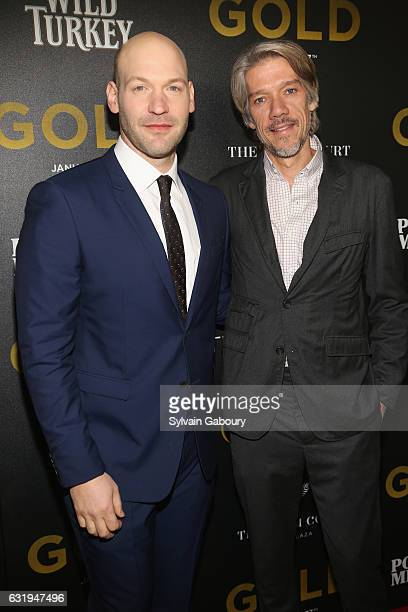 Corey Stoll and Stephen Gaghan attend TWCDimension with Popular Mechanics The Palm Court Wild Turkey Bourbon Host the Premiere of Gold at AMC Loews...