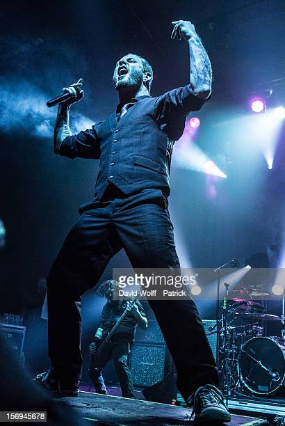 Corey Taylor from Stone Sour performs at Le Bataclan on November 25 2012 in Paris France