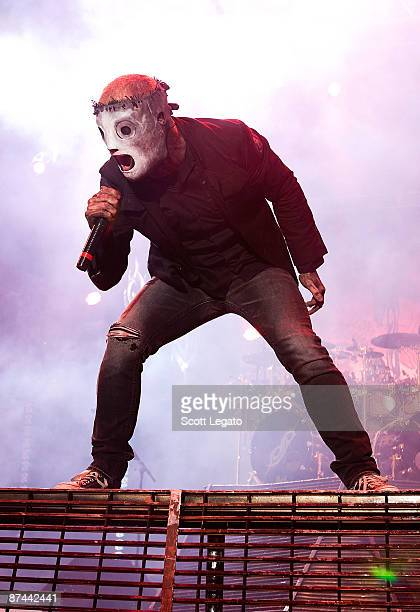 Corey Taylor of Slipknot performs during the 2009 Rock On The Range festival at Columbus Crew Stadium on May 16 2009 in Columbus Ohio