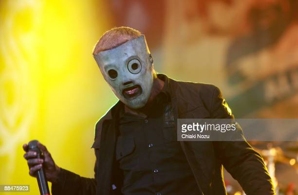 Corey Taylor of Slipknot performs on day two of the Download Festival at Donington Park on June 13 2009 in Castle Donington England