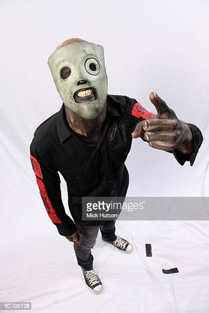 Corey Taylor of Slipknot poses for a studio portrait session backstage at the Download Festival Donington Park Leicestershire on June 13th 2009
