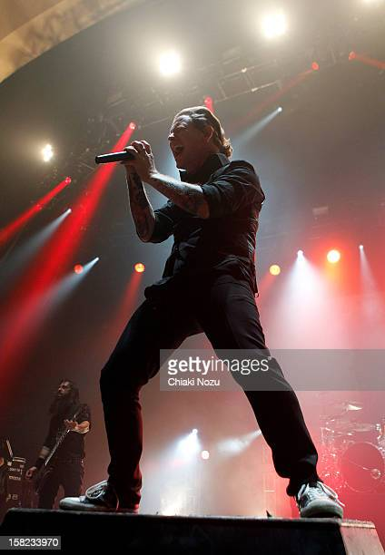 Corey Taylor of Stone Sour performs at Brixton Academy on December 11 2012 in London England