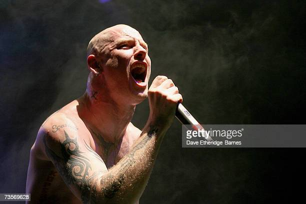 Corey Taylor of Stone Sour performs on stage at the Astoria March 13 2007 in London England The concert is in promotion of their album Come What May...