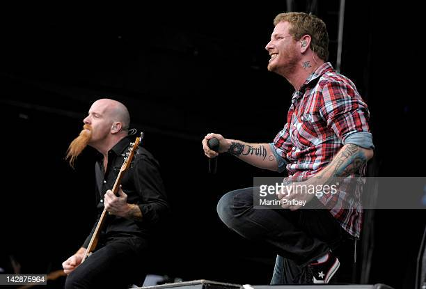 Corey Taylor of Stone Sour performs on stage at The Soundwave Music Festival at Olympic Park on 27th February 2011 in Sydney Australia