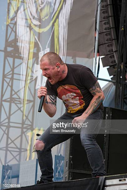 Corey Taylor of Stonesour performs on stage at Hellfest Festival on June 20 2010 in Clisson France