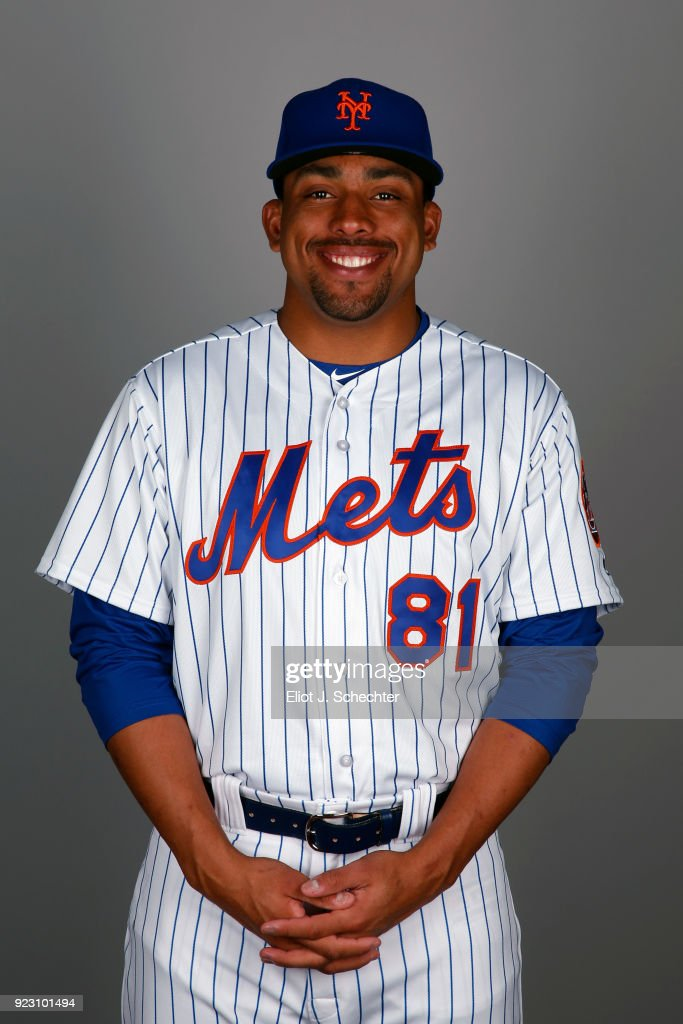Corey Taylor #81 of the New York Mets poses during Photo Day on Wednesday, February 21, 2017 at Tradition Field in Port St. Lucie, Florida.