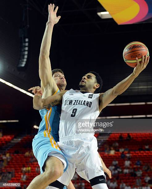 Corey Webster of New Zealand in action during the 2014 FIBA Basketball World Cup Group C match between New Zealand and Ukraine at the Bizkaia Arena...
