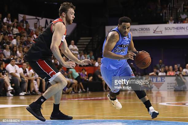 Corey Webster of the Breakers drives to the basket during the round seven NBL match between the Illawarra Hawks and the New Zealand Breakers at the...