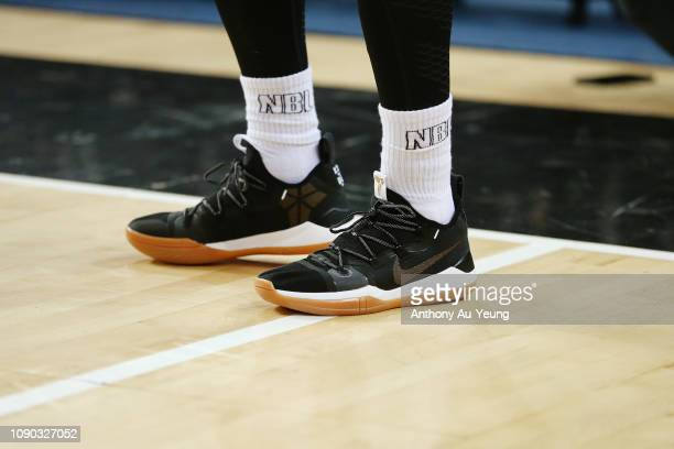Corey Webster of the Breakers wears the Nike Kobe AD during the round 12 NBL match between the New Zealand Breakers and the Perth Wildcats at Spark...