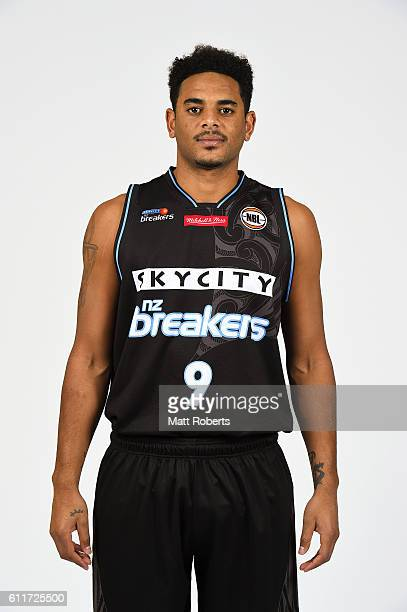 Corey Webster poses during the New Zealand Breakers 2016/17 NBL headshots session at Rydges Southbank on September 22 2016 in Brisbane Australia