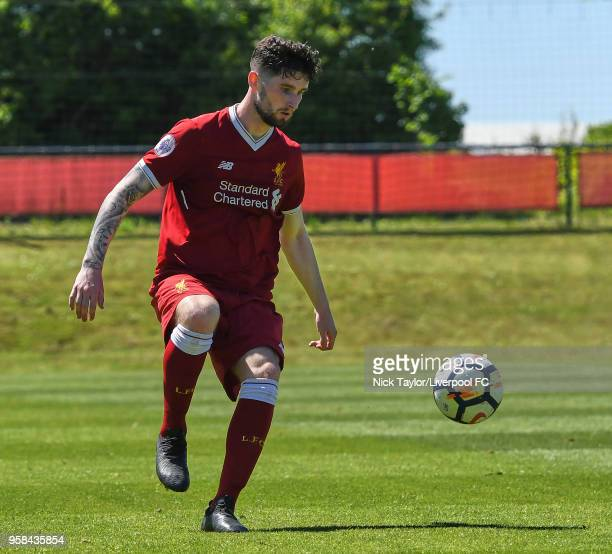 Corey Whelan of Liverpool in action at The Kirkby Academy on May 14 2018 in Kirkby England