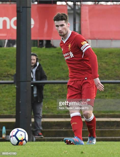 Corey Whelan of Liverpool in action during the Liverpool U23 v Swansea City U23 PL2 game at The Kirkby Academy on December 15 2017 in Kirkby England