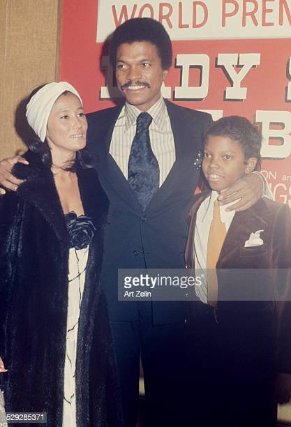 Corey Williams with his parents Billy D and Teruko Williams at the premiere of Lady Sings the Blues 1972