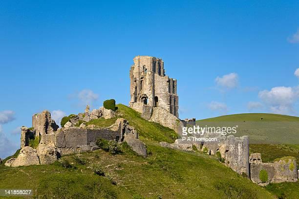 corfe castle, corfe, dorset, england - 英国 ドーセット ストックフォトと画像