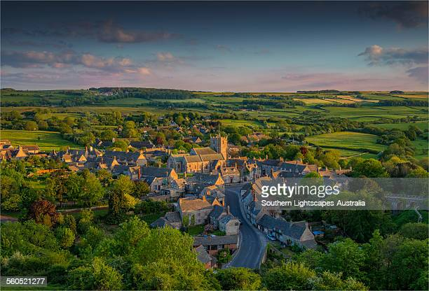 corfe village - england stock pictures, royalty-free photos & images