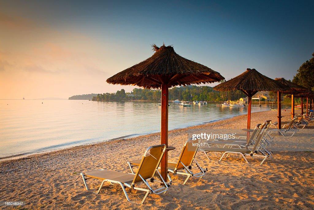 Praia de Corfu : Foto de stock