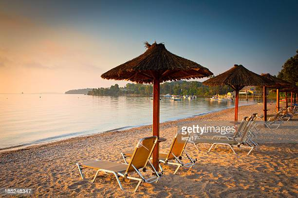 corfu beach - corfu stock pictures, royalty-free photos & images