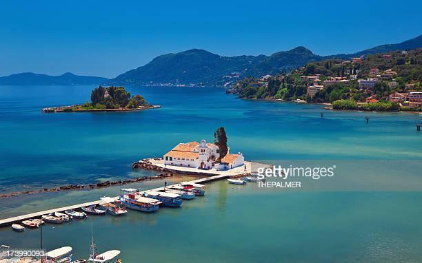 corfu island scenics - corfu stock pictures, royalty-free photos & images
