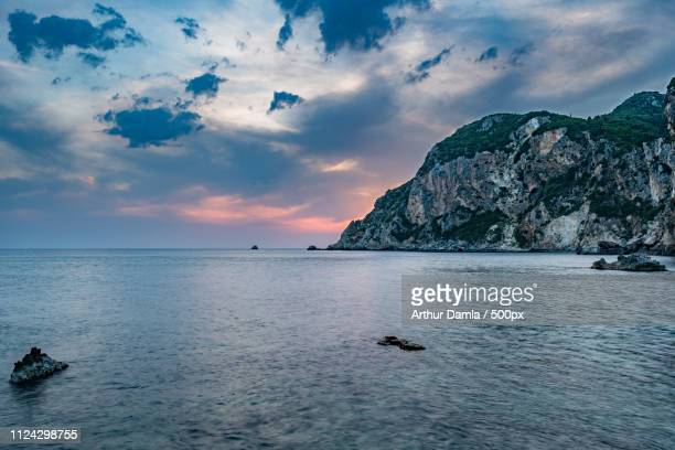 corfu last sunlights - last stock pictures, royalty-free photos & images