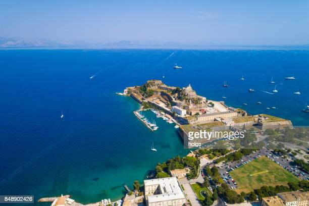 Corfu Old Town Aerial View