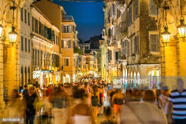 Corfu Old Town Streets by Night, Greece