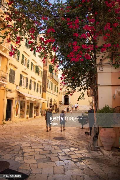 corfu town - miljko stock pictures, royalty-free photos & images