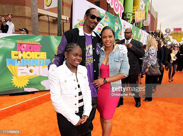 Cori Broadus Rapper Snoop Dog and Shante Broadus arrive at Nickelodeon's 24th Annual Kids' Choice Awards at Galen Center on April 2 2011 in Los...