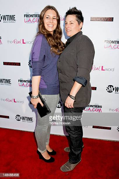 Cori McGinnBoccumini and Kacy Boccumini attend the season 3 premiere of Showtime's 'The Real L Word' held at Revolver on July 17 2012 in West...
