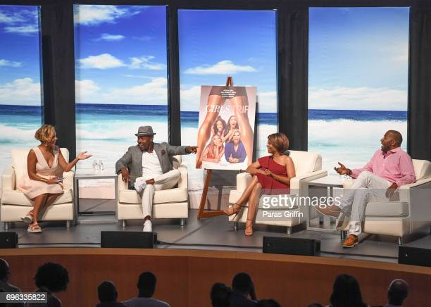 Cori Murray Will Packer Regina Hall and Malcolm D Lee onstage at 2017 American Black Film Festival 'Girls Trip' Anatomy of a Scene Panel with Regina...
