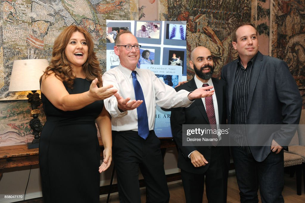 Cori Shepherd Stern, Dr. Paul Farmer, Pedro Kos and Kief Davidson attend 'Bending The Arc' New York Screening at the Whitby Hotel on October 5, 2017 in New York City.