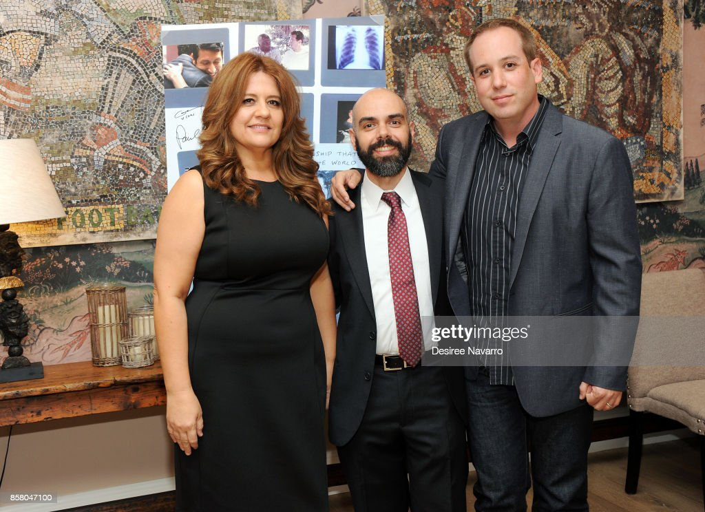 Cori Shepherd Stern, Pedro Kos and Kief Davidson attend 'Bending The Arc' New York Screening at the Whitby Hotel on October 5, 2017 in New York City.