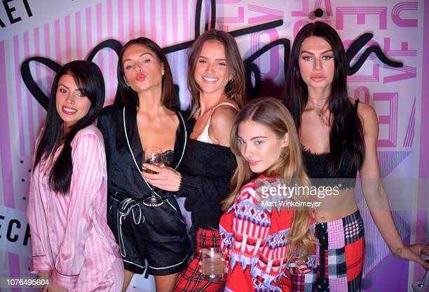 Corin JamieLee Alyssa Lynch Helen Owen Carmella Rose and CaleyRae Pavillard attend the Victoria's Secret Celebrates The 2018 Victoria's Secret...