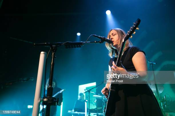 Corin Tucker of Sleater Kinney performs at Vicar Street on March 01, 2020 in Dublin, Ireland.